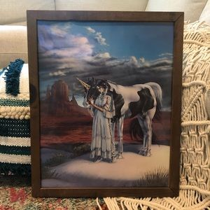 Vintage Mystical Boho Hippy unicorn Native Print